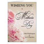 Tarjeta del día de madre de los Peonies del día de