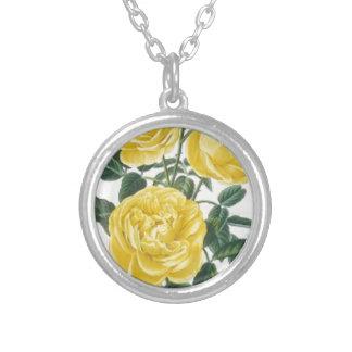 Tarjeta del día de madre de los rosas amarillos colgante redondo