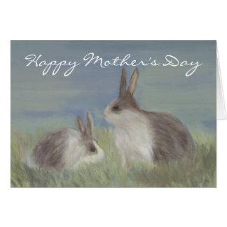 Tarjeta del día de madre del conejo