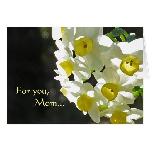 Tarjeta del día de madre del flor del narciso