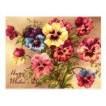 Tarjeta del día de madre del Pelargonium Postal