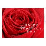 Tarjeta del día de madre del rosa rojo
