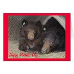 Tarjeta del día de madre - mamá y cachorro