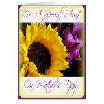 Tarjeta del día de madre para la tía