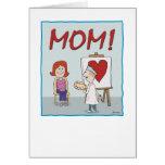 Tarjeta del día de madre: Trabajo del corazón