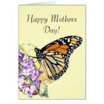 Tarjeta del día de madres de la mariposa de