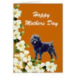 Tarjeta del día de madres del Affenpinscher
