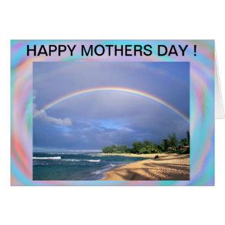 Tarjeta del día de madres del arco iris de la cost