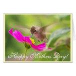 Tarjeta del día de madres del colibrí