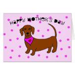 Tarjeta del día de madres del perro -- Daschund