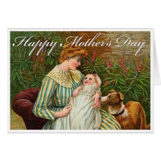 Tarjeta del día de madres del Victorian