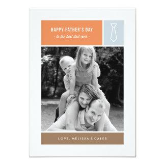 """Tarjeta del día de padre atado - azul polvoriento invitación 5"""" x 7"""""""