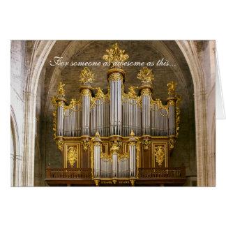 Tarjeta del día de padre - catedral de Montpellier