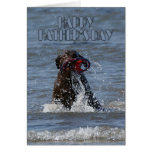 Tarjeta del día de padre - chocolate Labrador