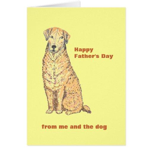 Tarjeta del día de padre con Dog.Personalize.