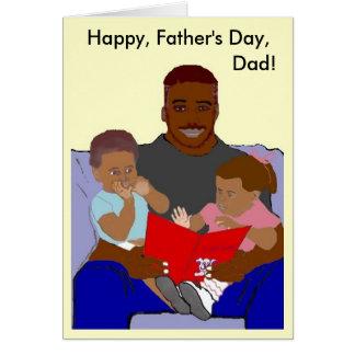 Tarjeta del día de padre de los paquetes del papá