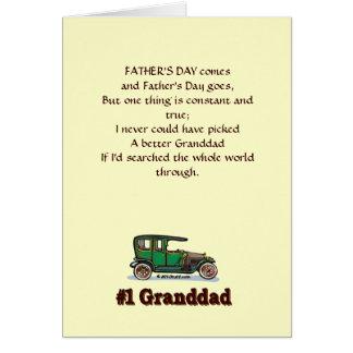 Tarjeta del día de padre del abuelo