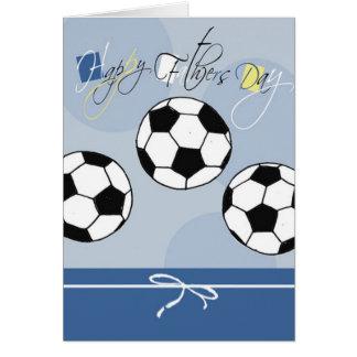 Tarjeta del día de padre del fútbol