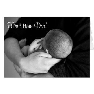 Tarjeta del día de padre del papá de la primera