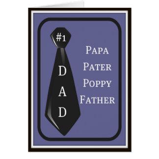 Tarjeta del día de padre del papá del #1 de la div