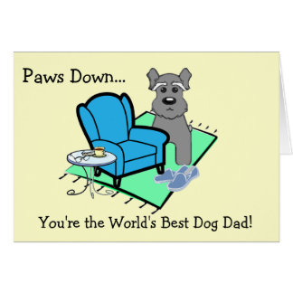 Tarjeta del día de padre del perro