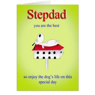 tarjeta del día de padre del stepdad