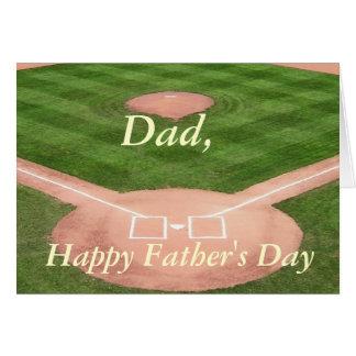 Tarjeta del día de padre--Diamante de béisbol