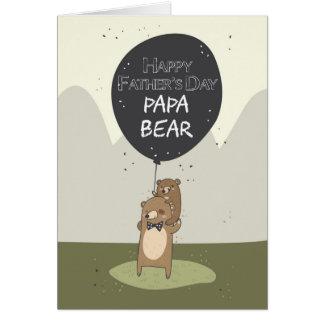 Tarjeta del día de padre, el día de padre del oso