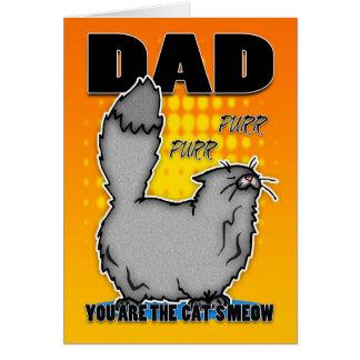 Tarjeta del día de padre - gato lindo