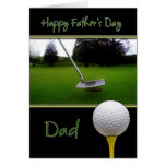 Tarjeta del día de padre - golf