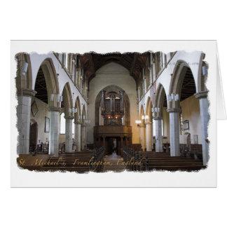 Tarjeta del día de padre - iglesia de Framlingham