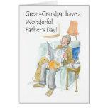 Tarjeta del día de padre para un Grande-abuelo