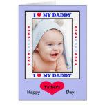 Tarjeta del día de padres del papá - corazón de I