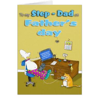 tarjeta del día de padres del papá del paso