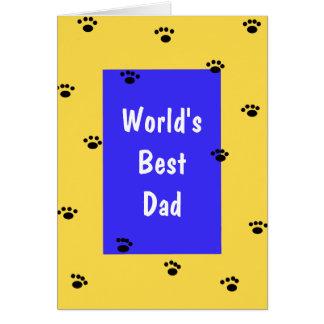 Tarjeta del día de padres del perro - el mejor