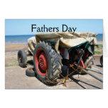 Tarjeta del día de padres del tractor
