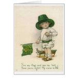 Tarjeta del día de pequeño St Patrick irlandés del