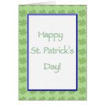 "Tarjeta del día de s de St Patrick feliz """