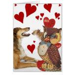 Tarjeta del día de San Valentín 15 del vintage de