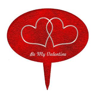 Tarjeta del día de San Valentín #2 Decoraciones Para Tartas