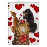 Tarjeta del día de San Valentín 2 del vintage de l