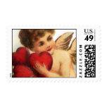 Tarjeta del día de San Valentín 2 del vintage de Timbre Postal