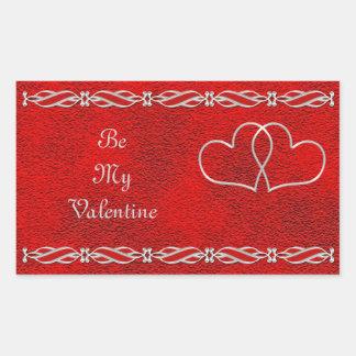 Tarjeta del día de San Valentín #2 Pegatina Rectangular