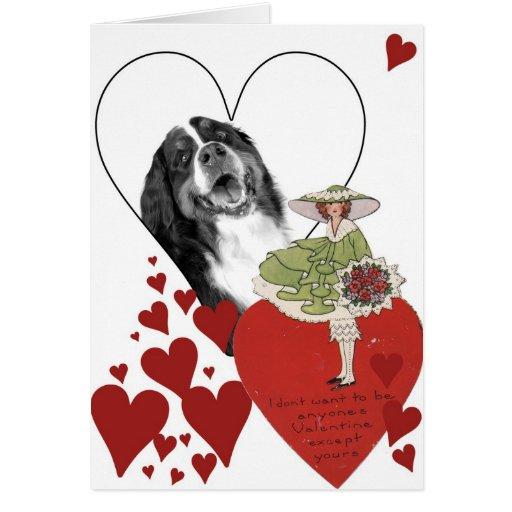 Tarjeta del día de San Valentín 3 del vintage de l
