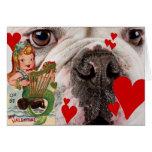 Tarjeta del día de San Valentín 4 del vintage de l