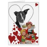 Tarjeta del día de San Valentín 8 del vintage de l