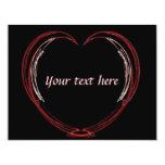 Tarjeta del día de San Valentín abierta del Comunicado Personalizado