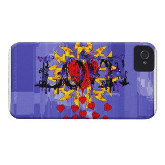 Tarjeta del día de San Valentín abstracta del amor iPhone 4 Fundas