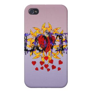 Tarjeta del día de San Valentín abstracta del amor iPhone 4 Coberturas