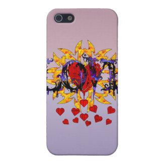 Tarjeta del día de San Valentín abstracta del amor iPhone 5 Cárcasa